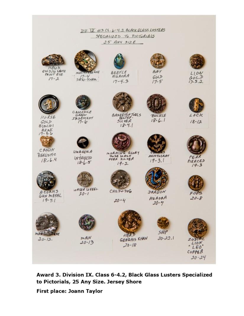 SPRING 18, Award 3, Div IX. Black Glass Lusters
